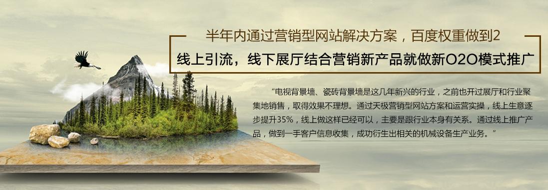 天极科技背景墙陶瓷网站代运营模式,新O2O模式营销推广